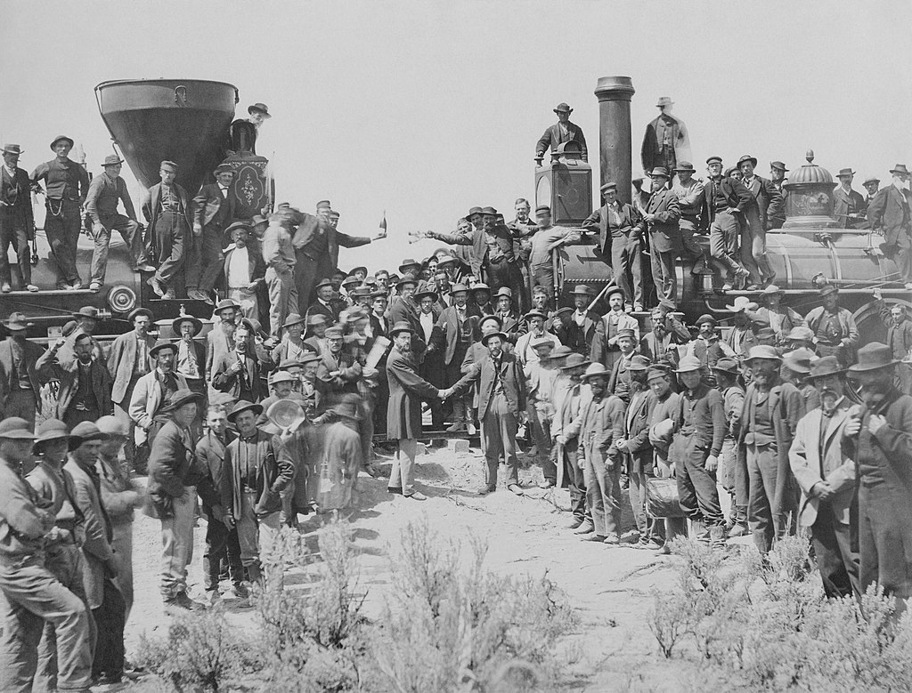 transcontinental railroad growth of cities